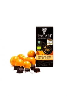 Pacari BIO RAW golden berries v hořké čokoládě 52g